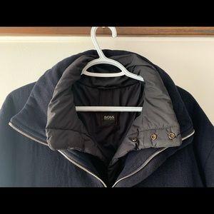 Hugo Boss Cashmere-Wool Coat Size XL